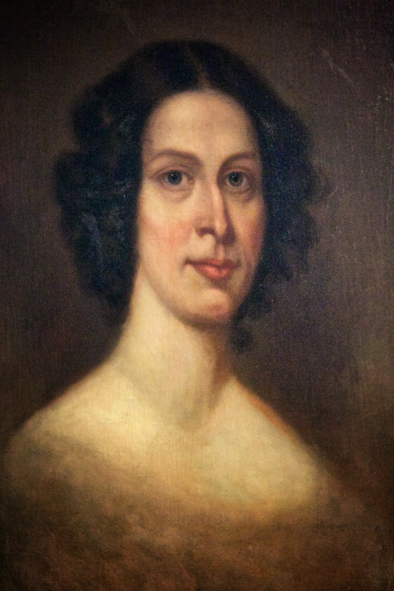 Portrait of Susannah Ingersoll at the House of the Seven Gables.