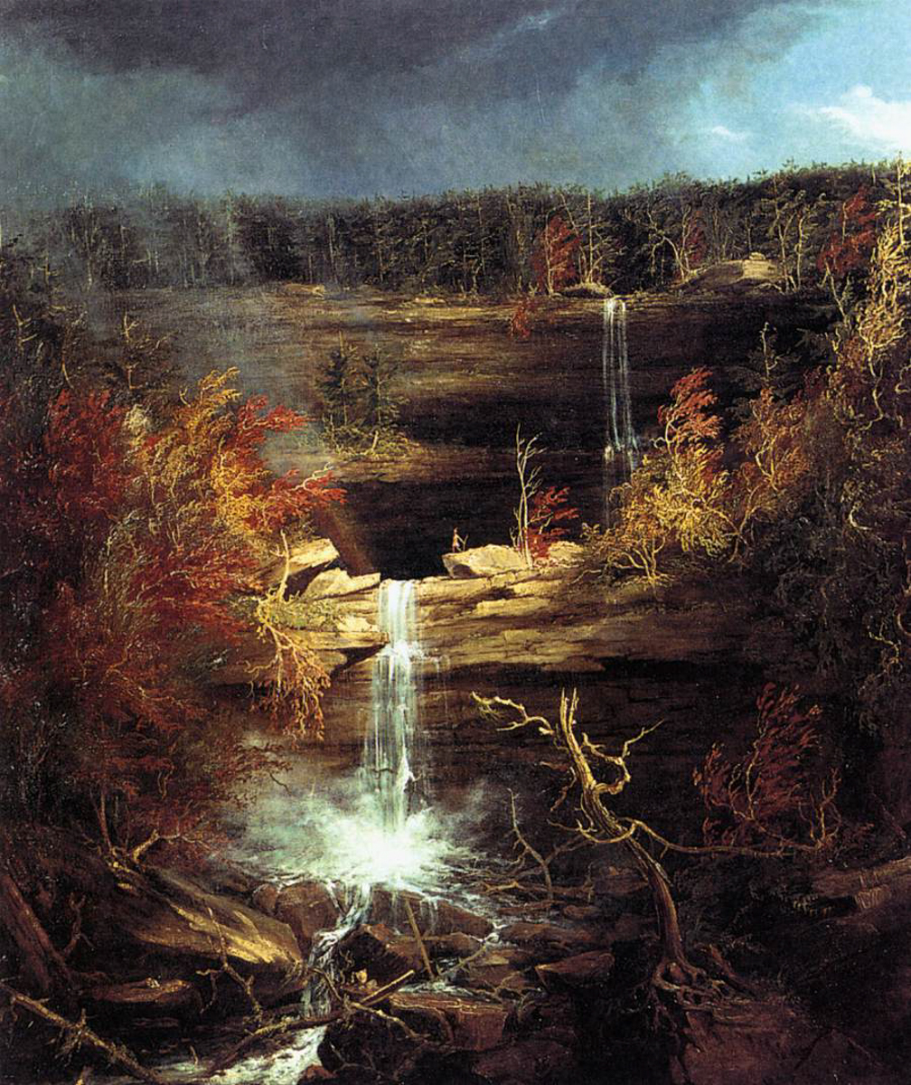 The Falls of Kaaterskill by Thomas Cole, one of the artists of the Hudson River School