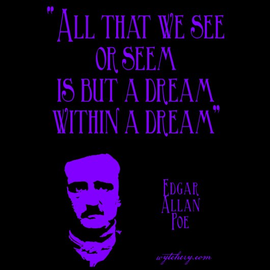 """All that we see or seem is but a dream within a dream"" Edgar Allan Poe"