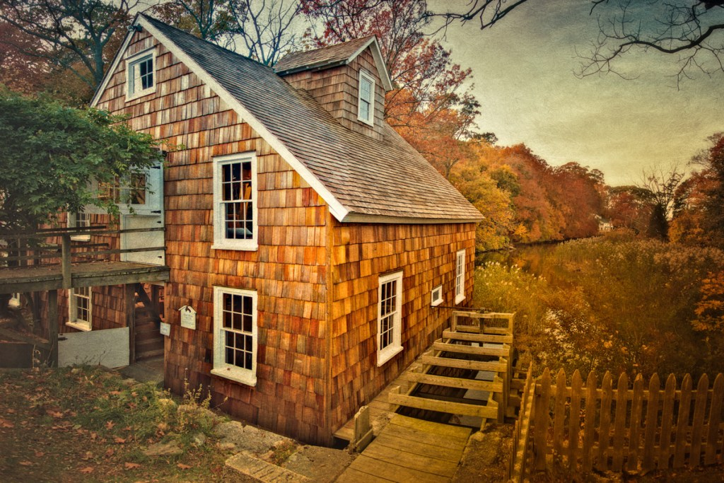 The grist mill in Stony Brook, on Long Island, New York
