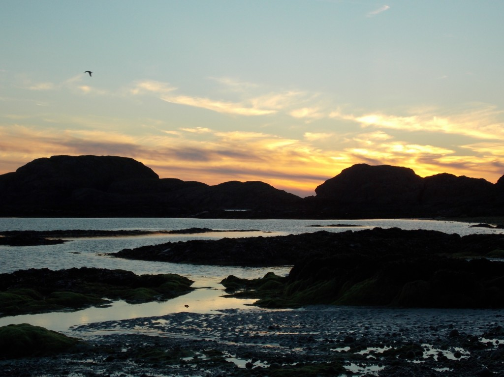 Sunset on Iona.
