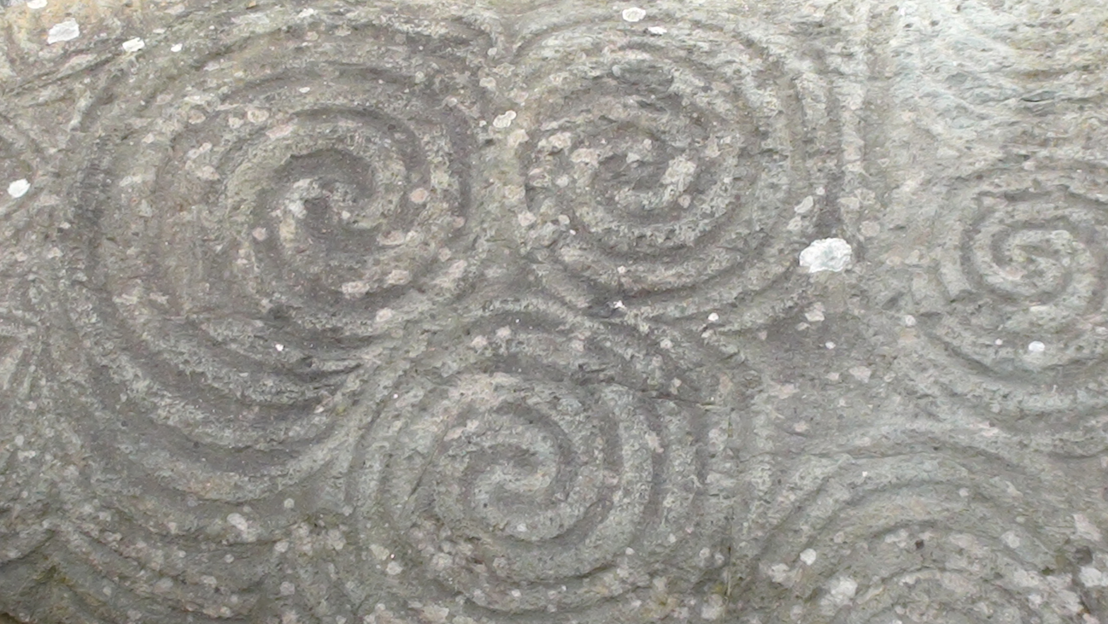 Detail of carving on entrance stone at Newgrange