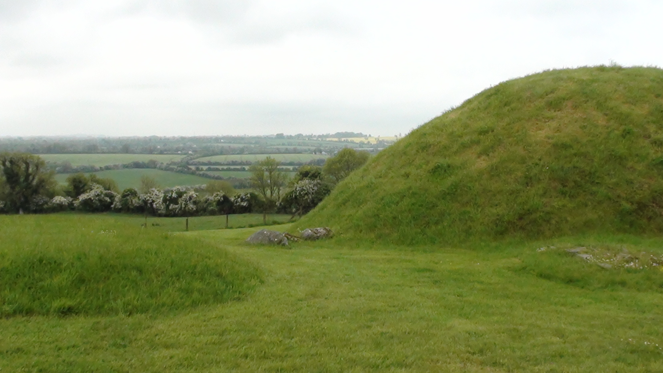 The temple mound of Knowth