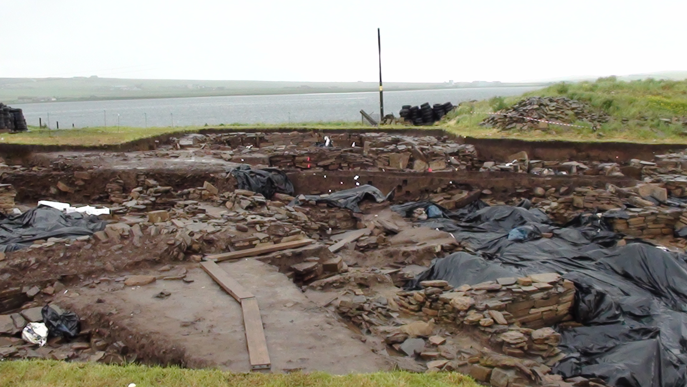 Excavations on the Ness of Brodgar on Orkney.