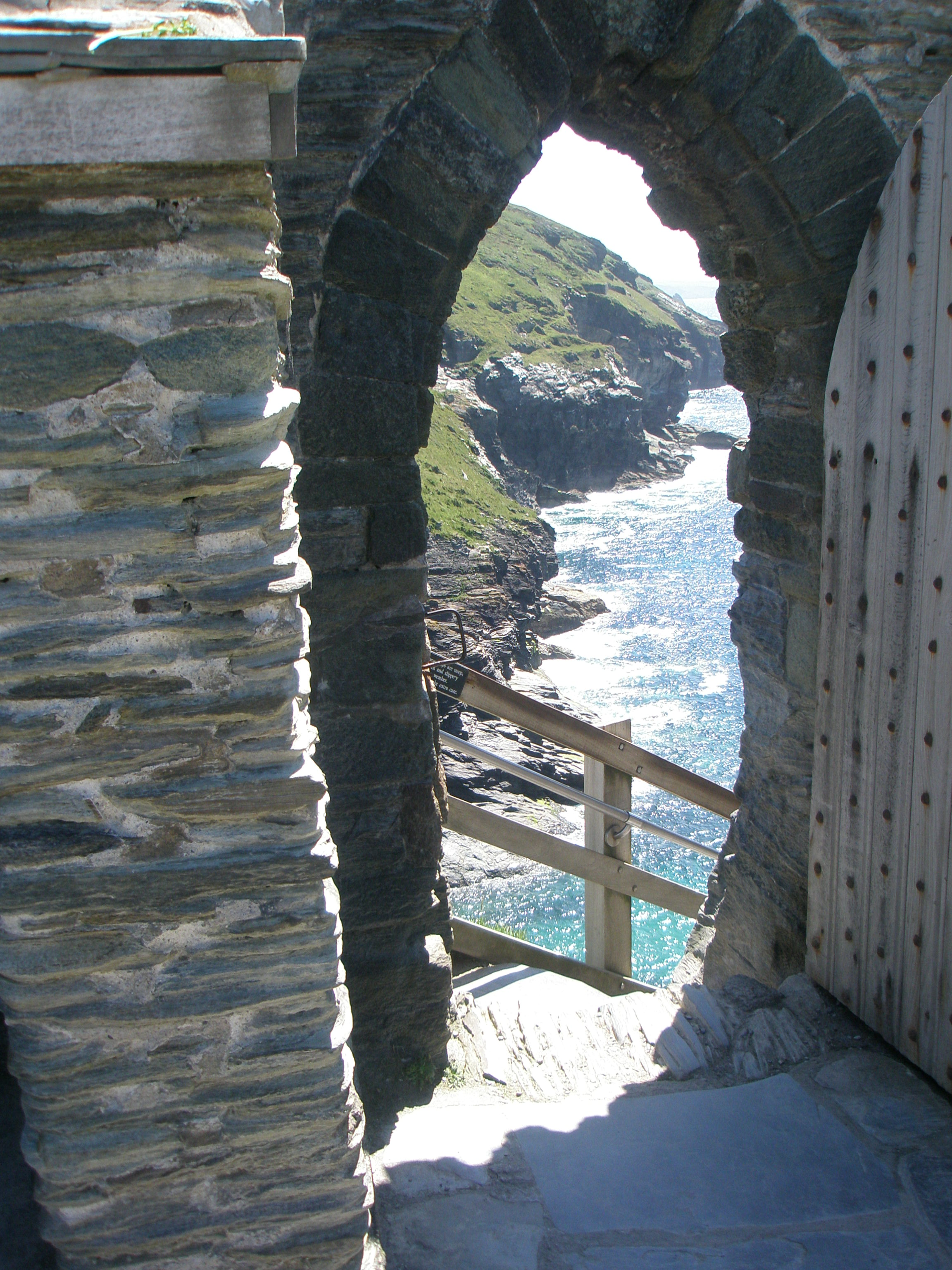 View from Tintagel Castle