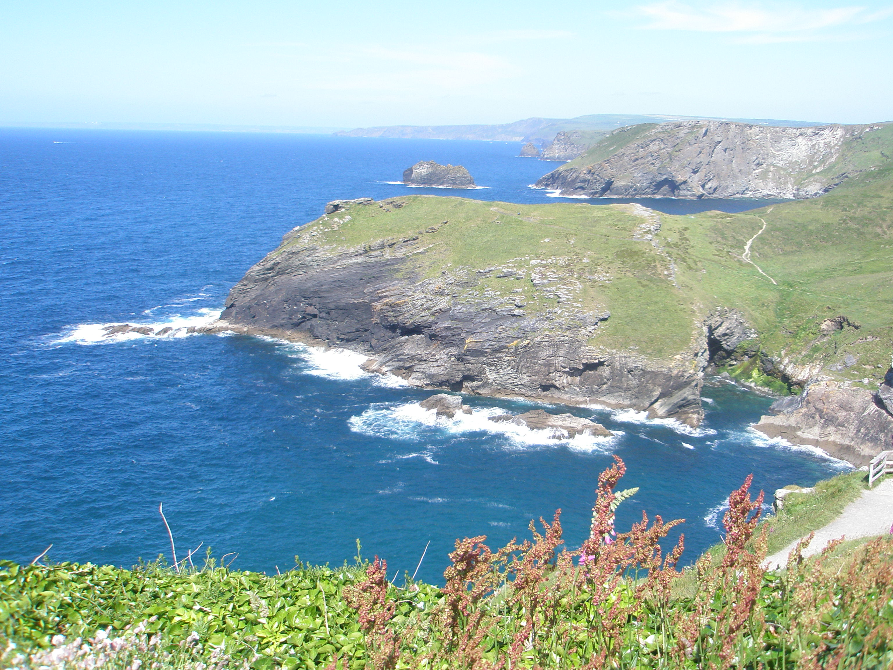 View of the Cornish coast from Tintagel Castle