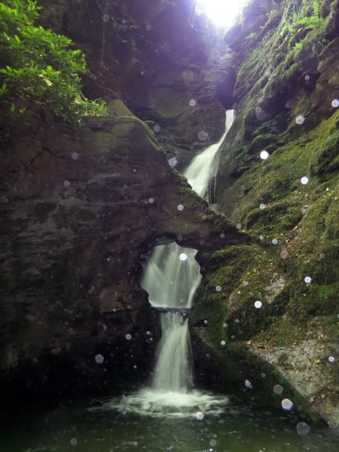 Waterfall St Nectans Glen Cornwall - with orbs!