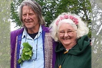 Jamie George and Linda Marson, tour hosts on spiritual tours of the UK and Ireland