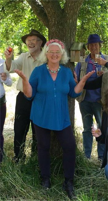Visit to Glastonbury Abbey apple orchard on spiritual tour of England