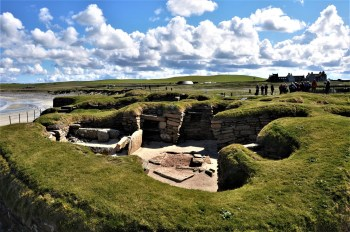 Neolithic village of Skara Brae on Orkney on spiritual tour of Scotland