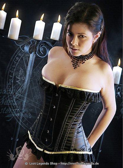 Elegance Korsett Satin  Gothickleidungde  Korsetts