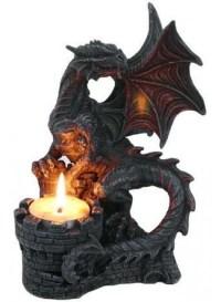 Dragon Candle Holder - Winged Dragon Tea Light Candleholder