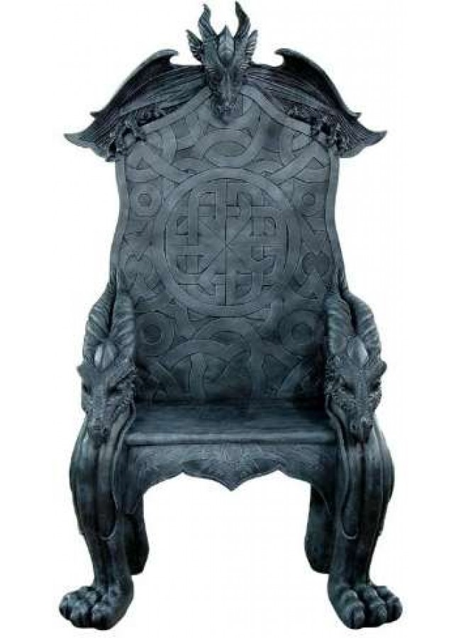 Celtic Dragon Throne Medieval Chair Gothic Home Decor