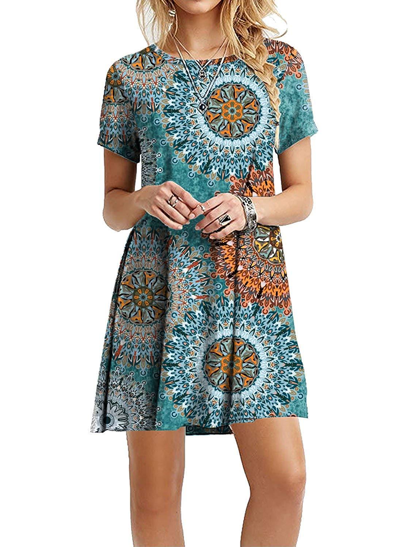 Light Blue Short Dresses For Women