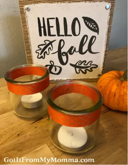 Thanksgiving Craft Oui Jar Candle Holders Got It From My Momma