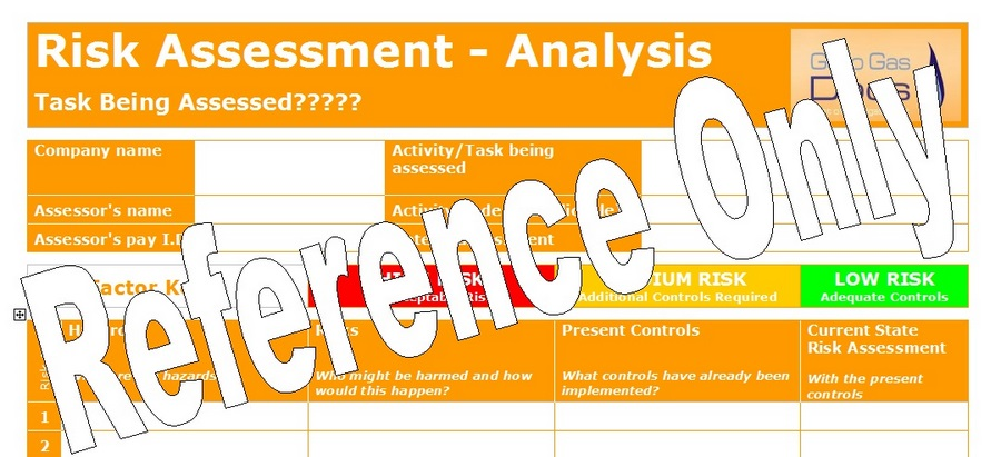 Gas Forms: Risk Assessment - Template