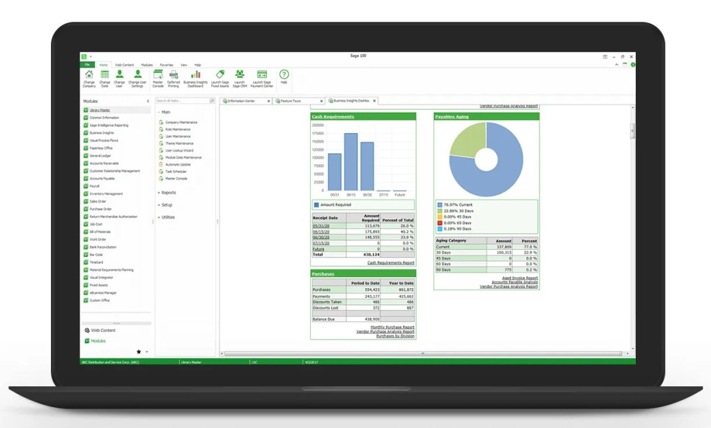 sage 100cloud dashboard