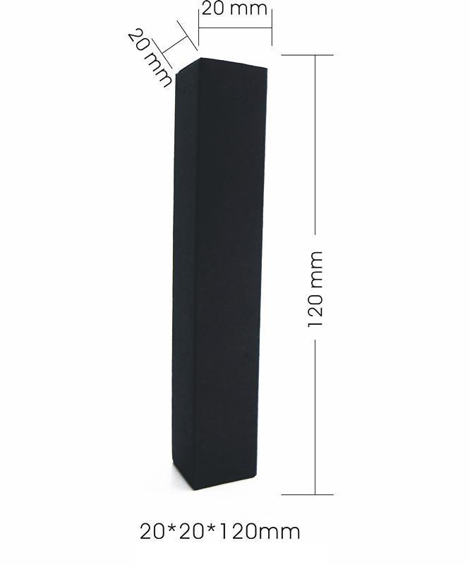 2*2*12cm Black Paper Box for Essential Oil Perfume sample