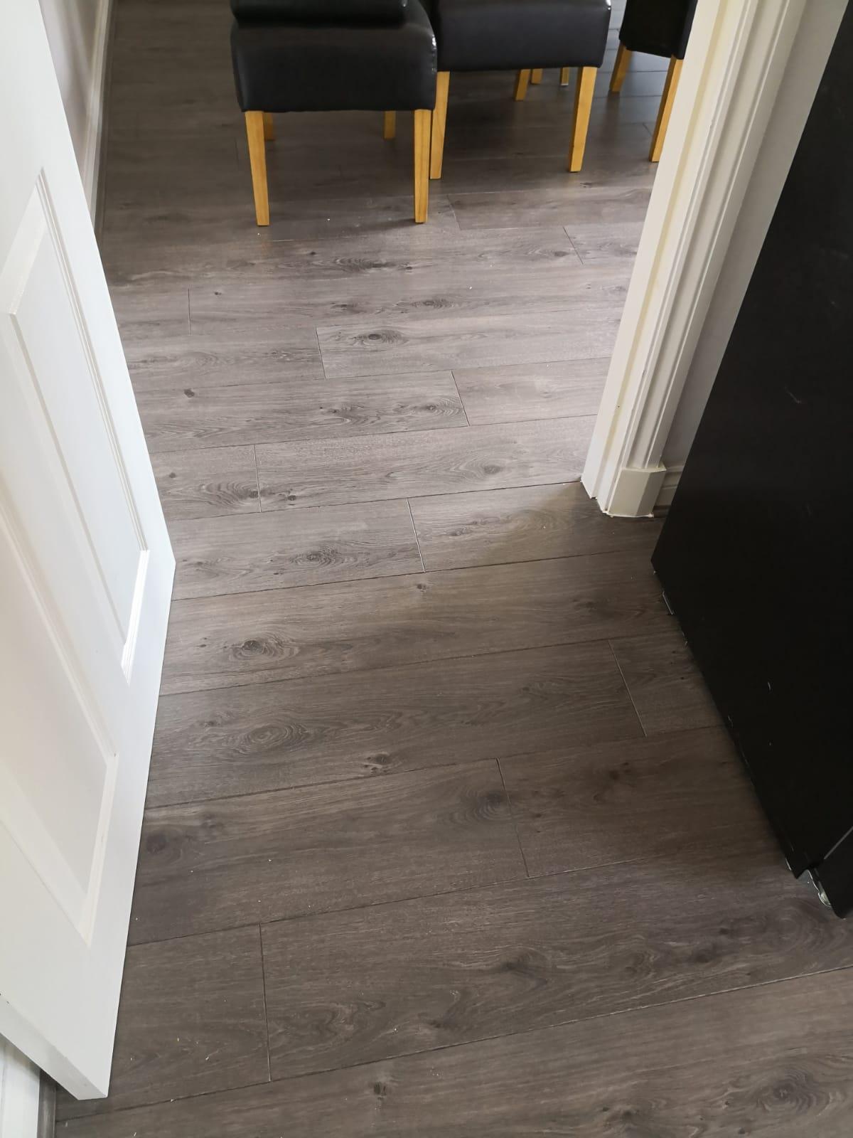 Dining Room and Kitchen Laminate Flooring Installation