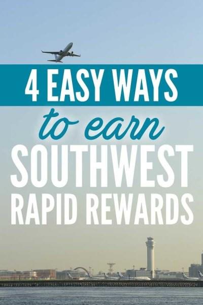 4 Easy Ways to Earn Southwest Rapid Rewards Points via @GotoTravelGal