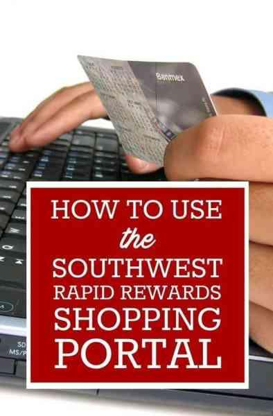 Southwest Rapid Rewards Shopping Portal: Everything You Need to Know via @GotoTravelGal