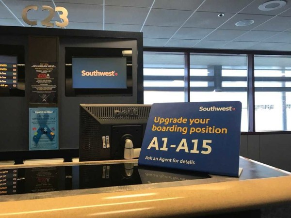 Upgrade your Southwest boarding zone at gate