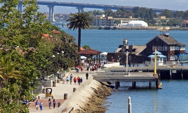 Seaport Village Bridge Walkers