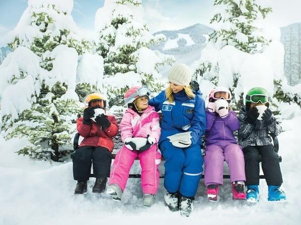 Family skiing Beaver Creek Colorado