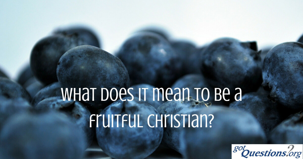 What does it mean to be a fruitful Christian