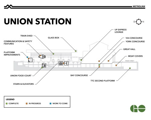 small resolution of map showing completed and upcoming work at union station