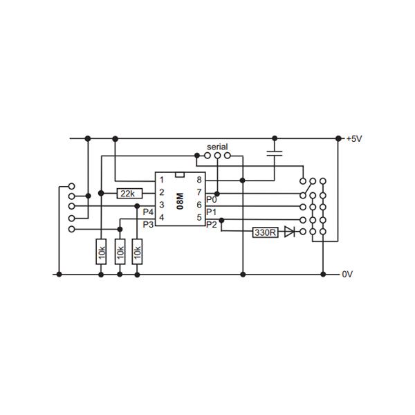 Picaxe Module Picaxe08M2 AXE231
