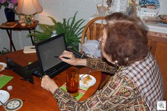 Aunt Ruth and a Tablet PC