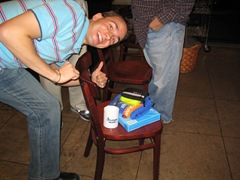 Seth Showing Off His Winnings: SnagIt license, GBM Mug, and more