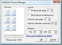 OneNote Printout Manager