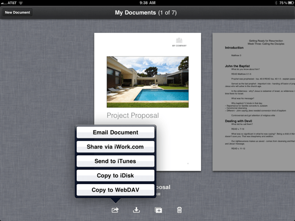 My Documents Share Feature
