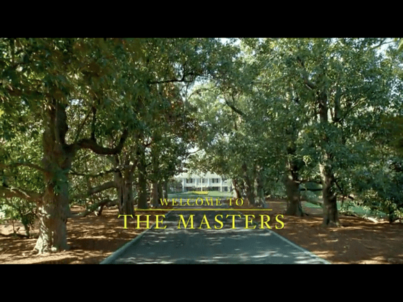 The Masters Golf Tournament app welcome screen