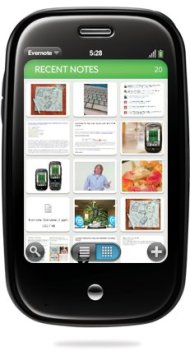 Evernote on Palm Pre - Thumbnail Viewing