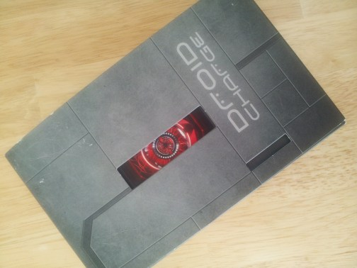 Droid Charge retail packaging; taken with the Droid Charge's 8 MP camera