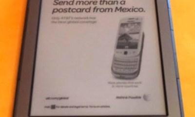 Amazon Kindle with ad showing while asleep