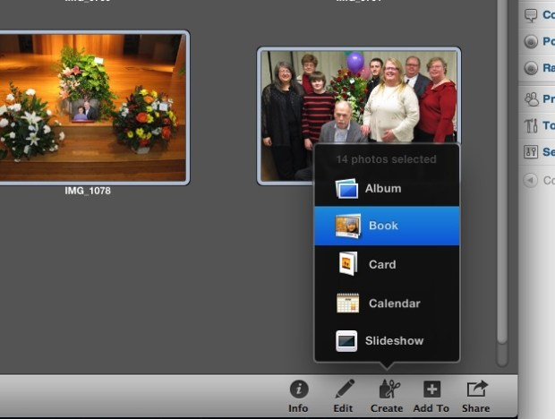 Create a photo book in iPhoto