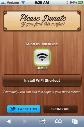 Install iPhone Settings Shortcuts