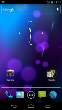 Home Screen - Ice Cream Sandwich Android 4.0