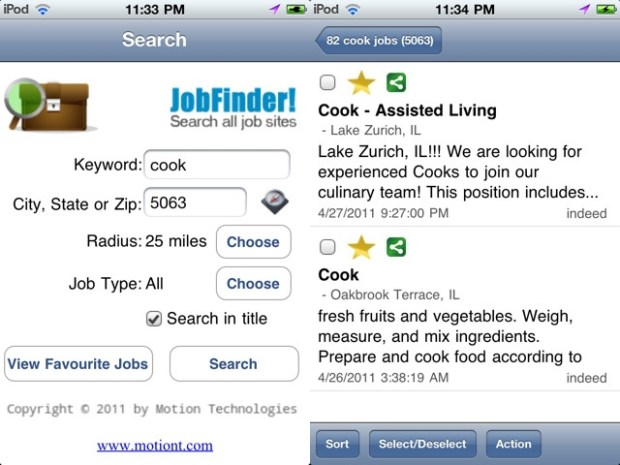 JobFinder iPhone App