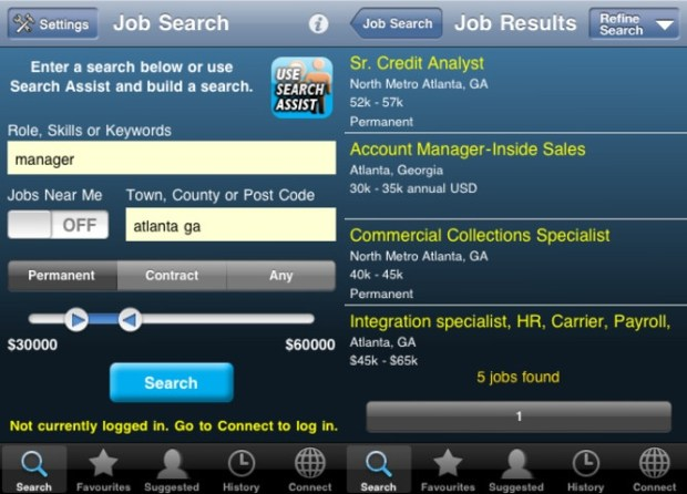 New Year's Resolution Find a Better Job App - Jobserve COnnect