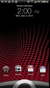 HTC Rezound Lock Screen