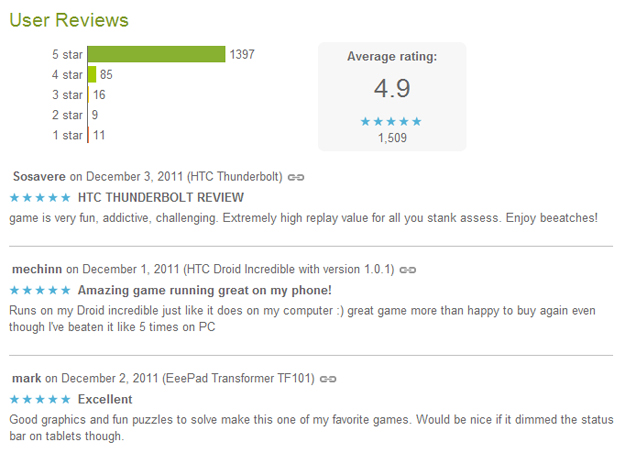 Android Market Reviews