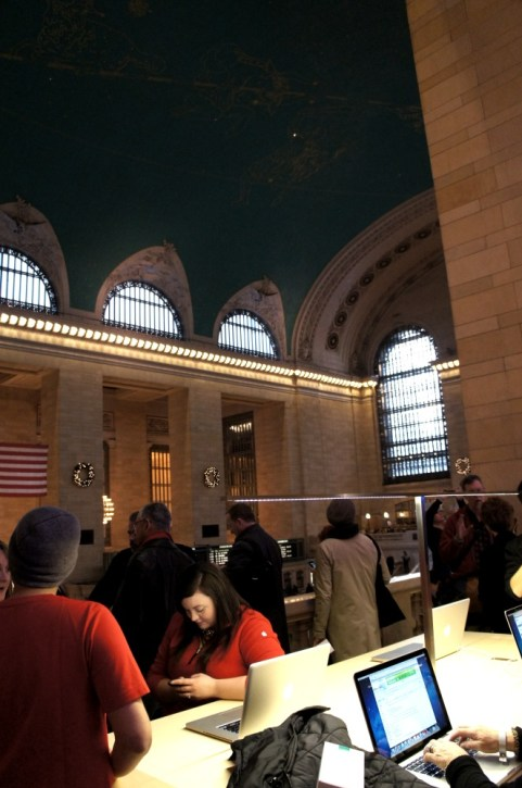 Grand Central Apple Store - Famous ceiling of the main concourse