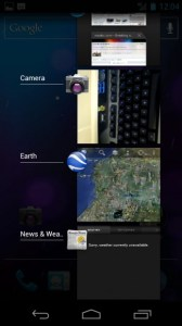 multitasking apps on the Galaxy Nexus