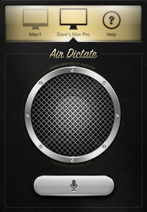 Air Dicate app for iPhone 4S