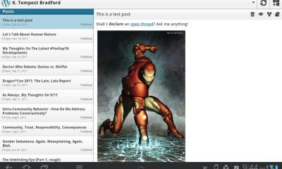 Post List - tablets - WordPress 2.0